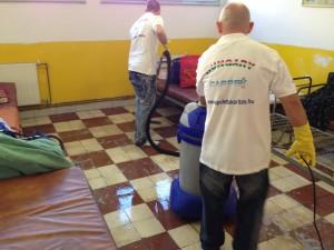 Hajléktalan szálló takarítás